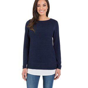 NEW Hilary Radley Ladies' 2fer Sweater